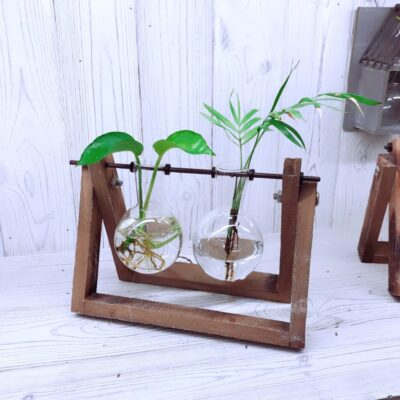 hydroponic planter wooden base