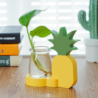 Pineapple Glass Planter