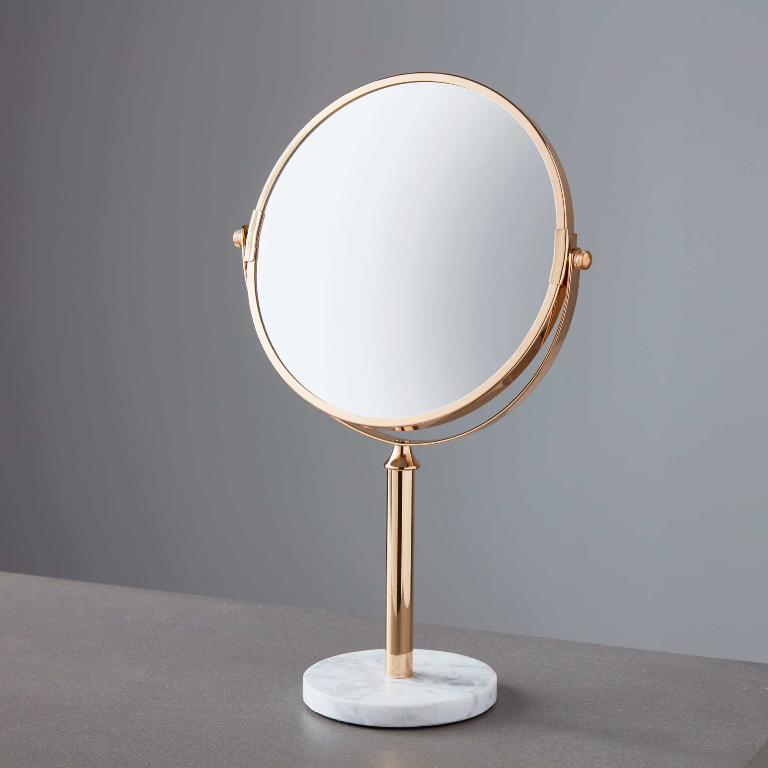 Gold Marble Base Mirror